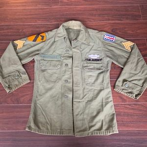 Other - SPECIAL FORCES OG 107 Green Sateen Shirt US ARMY